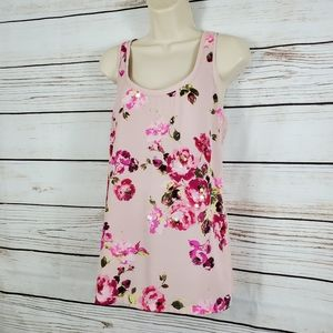 Express | Floral Sequin Rose Tank Top